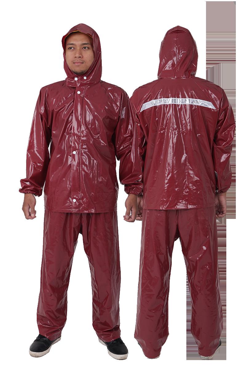 jas hujan merah